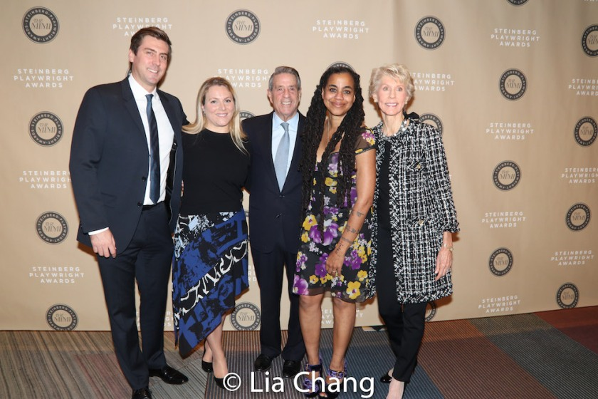 The family of Michael and Joan Steinberg with honoree Suzan-Lori Parks at the 2018 Steinberg Playwright Awards at Lincoln Center Theater on December 3, 2018 in New York City. Photo by Lia Chang