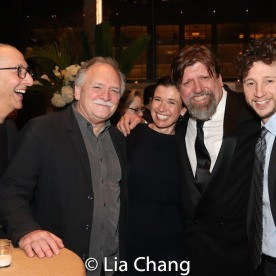 Hannah Cabell, Oskar Eustis (center) and guests. Photo by Lia Chang