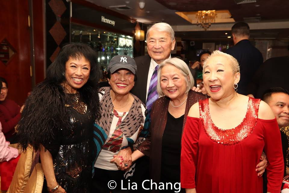 Asian American pioneers Baayork Lee, Pat Suzuki, Alvin Ing, Virginia Wing and Lori Tan Chinn. Photo by Lia Chang