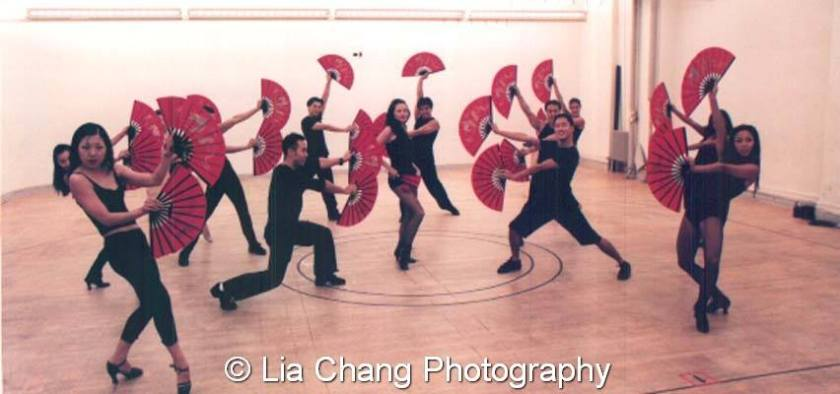 In rehearsal with the 2002 FLOWER DRUM SONG Revival Company. Photo by Lia Chang