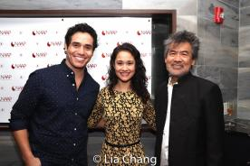 Adam Jacobs, Ali Ewoldt and David Henry Hwang. Photo by Lia Chang