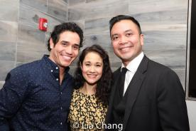 Adam Jacobs, Ali Ewoldt and Jose Llana. Photo by Lia Chang