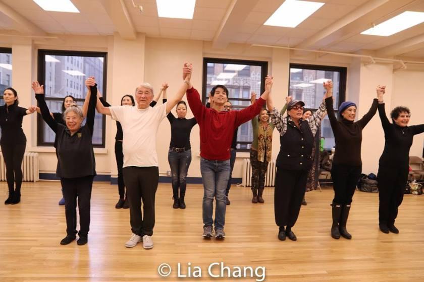 Front Row: Paula Chin, Alvin Ing, Telly Leung, Vicki Racimo, Mae Wong, Carol Gordon Morra. Photo by Lia Chang