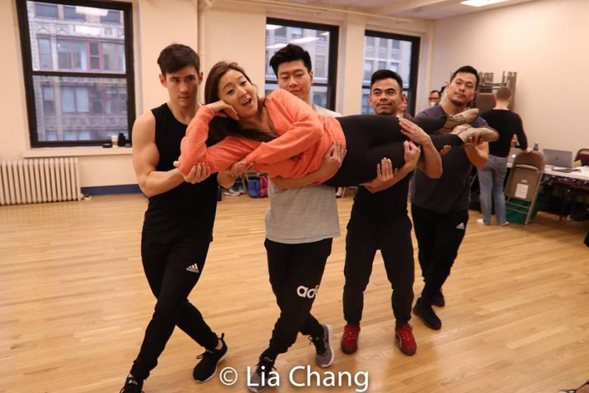 Warren Yang, Ashley Park, Joomin Hwang, Jason Garcia Ignacio and Paul HeeSang Miller. Photo by Lia Chang