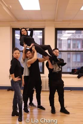 Lainie Sakakura, Sandra Allen, Joomin Hwang, Warren Yang and Paul HeeSang Miller. Photo by Lia Chang