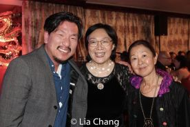Brian Kim, Tisa Chang and Susan Kikuchi. Photo by Lia Chang