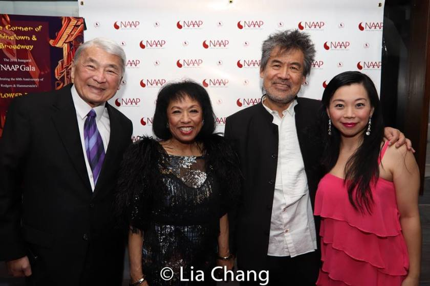 Alvin Ing, Baayork Lee, David Henry Hwang and Yuka Takara. Photo by Lia Chang