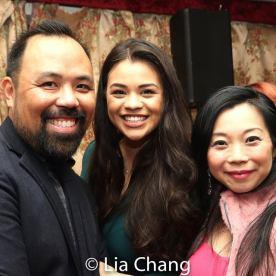 C-Robert Tatad, a guest and Yuka Takara. Photo by Lia Chang