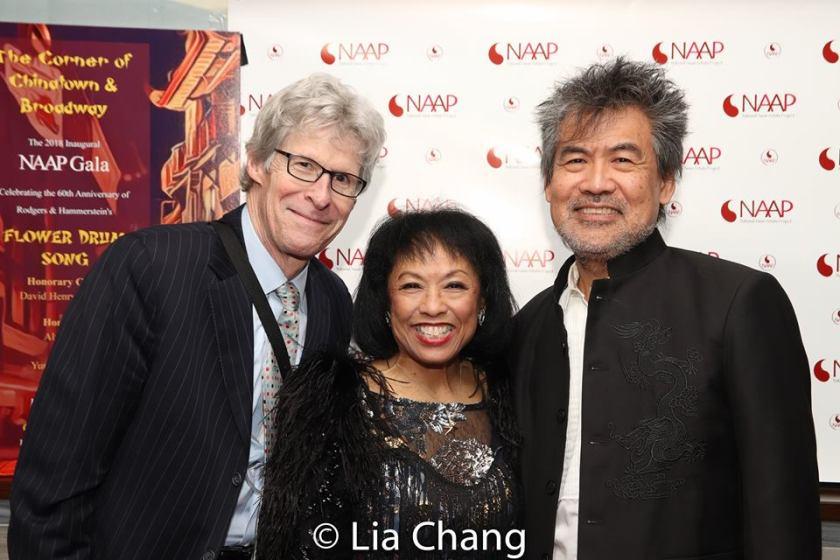 Ted Chapin, Baayork Lee and David Henry Hwang. Photo by Lia Chang