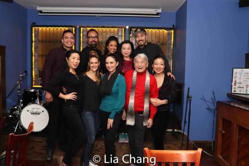 1st row-Jodi Long, Erika Yang, Sandra Allen, Alvin Ing and Lainie Sakakura. 2nd row: Jose Llana, Robert Tatad, J. Elaine Marcos, Yuka Takara and Marcus Choi. Photo by Lia Chang