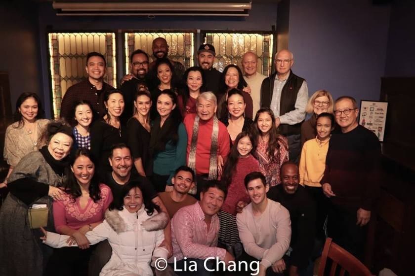 The Flower Drum Song company, family and friends. Photo by Lia Chang