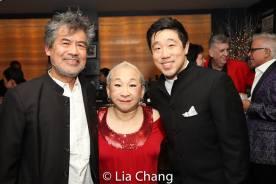 David Henry Hwang, Lori Tan Chinn and Raymond J. Lee. Photo by Lia Chang