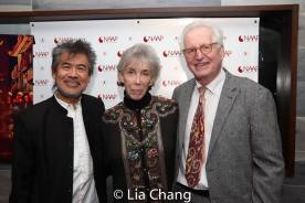 David Henry Hwang with Linda and Jack Viertel. Photo by Lia Chang