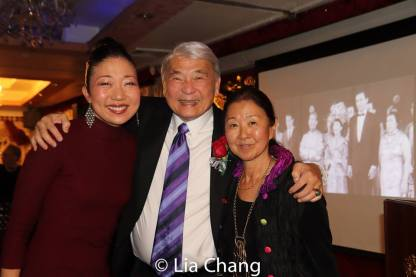 Lainie Sakakura, Alvin Ing and Susan Kikuchi, daughter of honoree, Yuriko. Photo by Lia Chang