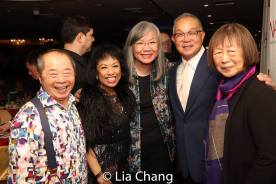 Larry Lee, Baayork Lee, June Jee, Arlan Huang and Lillian Ling. Photo by Lia Chang