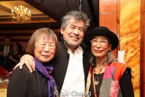 Lillian Ling, David Henry Hwang and Nobuko Miyamoto. Photo by Lia Chang