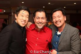 Raymond J. Lee, Alan Ariano, Brian Kim. Photo by Lia Chang