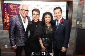 Director Richard Jay Alexander, with NAAP co-founders Nina Zoie Lam, Baayork Lee and Steven Eng. Photo by Lia Chang