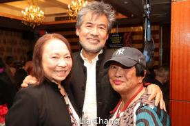 Susan Hum, David Henry Hwang and Pat Suzuki. Photo by Lia Chang