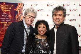 Ted Chapin, Baayork Lee, David Henry Hwang. Photo by Lia Chang