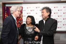 Ted Chapin, Baayork Lee, David Henry Hwang. Photo by Lia Chang