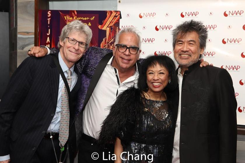 Ted Chapin, Richard Jay Alexander, Baayork Lee and David Henry Hwang. Photo by Lia Chang