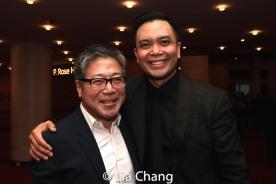 Jon Nakagawa, Director, Contemporary Programming, Lincoln Center for the Performing Arts, Inc. and Jose Llana. Photo by Lia Chang