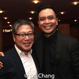 Jon Nakagawa, Director, Contemporary Programming, Lincoln Center for the Performing Arts, Inc. and Jose Llana. Photo by Lia Chang