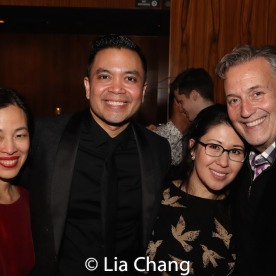 Lia Chang, Jose Llana, Ruthie Ann Miles, Frank Conway, Associate Director of Development, Broadway Cares/Equity Fights AIDS. Photo by Garth Kravits
