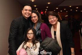 Jose Llana with his niece Veronica, his sister Patricia Llana and his mother Regina Tolentino Newport. Photo by Lia Chang