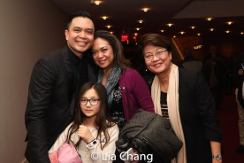 Jose Llana with his niece Veronica, his sister Patricia Llana and his mother Regina Tolentino Newport. Photo by Lia Chang