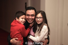 Jose Llana with his nephew Max and his niece Veronica. Photo by Lia Chang