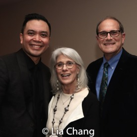Jose Llana, Jamie deRoy and a guest. Photo by Lia Chang