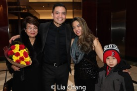 Regina Tolentino Newport, Jose Llana, Patricia Llana and Max. Photo by Lia Chang