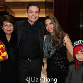 Regina Tolentino Newport, Jose Llana, Patricia Llana and Max. Photo by Lia Chang