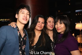 Julian Leong, Liz Casasola, Joan Oriel Rodney and Emy Coligado. Photo by Lia Chang