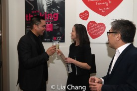 Jose Llana, Music Director Kimberly Grigsby and Jon Nakagawa, Director, Contemporary Programming, Lincoln Center for the Performing Arts, Inc. Photo by Lia Chang