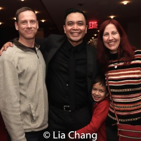 Jose Llana, his nephew Max and guests. Photo by Lia Chang