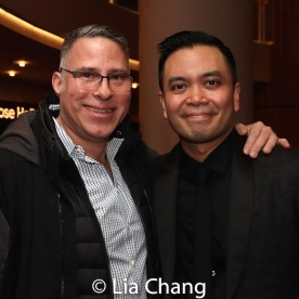 A guest and Jose Llana. Photo by Lia Chang