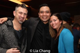 John Clancy, Jose Llana and a guest. Photo by Lia Chang