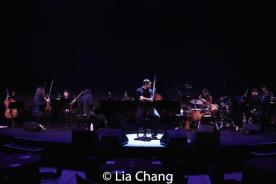 Jose Llana and the band. Photo by Lia Chang