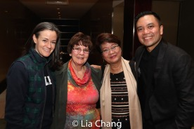 Kimbery Grigsby and Jose Llana with their mothers. Photo by Lia Chang