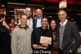 Jose Llana, Erik Rose and guests. Photo by Lia Chang