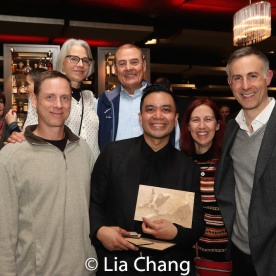 Jose Llana, Erik Rose and guests. Photo by Lia Chang