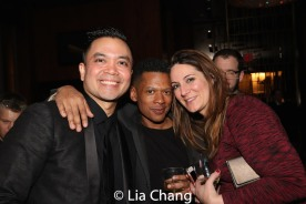 Jose Llana and guests. Photo by Lia Chang