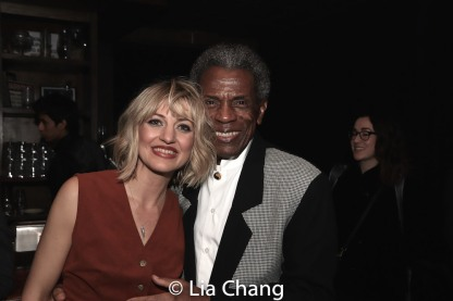 Anaïs Mitchell and André De Shields. Photo by Lia Chang