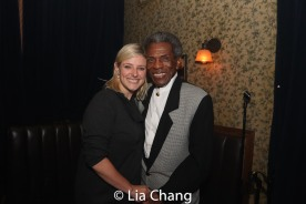 Laura Heywood and André De Shields. Photo by Lia Chang