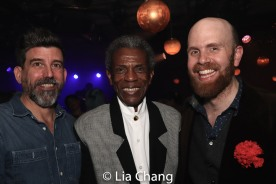David Neumann, André De Shields and Liam Robertson. Photo by Lia Chang