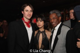 Reeve Carney, Eva Noblezada and André De Shields. Photo by Lia Chang