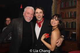 Patrick Page, Reeve Carney and Eva Noblezada. Photo by Lia Chang